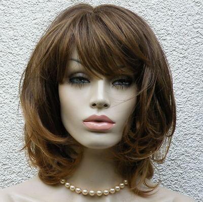 Perücke kastanie dunkelblond mittelbraun wie Echthaar  mittellang - Lange Haare Blonde