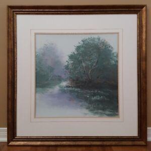 """Peinture """"Un paysage et sa rivière"""""""