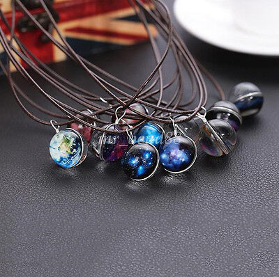 GALAXY SPACE UNIVERSE GLOW IN THE DARK CHARM PENDANT NECKLACE JEWELRY FASHION - Glow In The Dark Jewelry