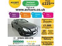 2013 BLACK MERCEDES E220 2.1 CDI SPORT 2DR CONVERTIBLE CAR FINANCE FR £225 PCM
