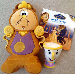 Disney Exclusive 'MCCOGSWORTH' & 'CHIP' Plushes & CD Storybooks