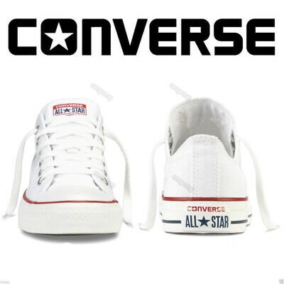 Converse Low Tops Sneakers Women Men All Star Chuck Taylor Trainers Shoes -White