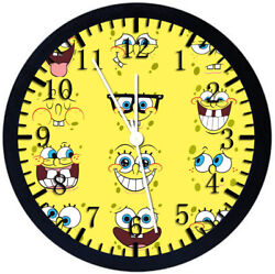 SpongeBob SquarePants Black Frame Wall Clock Nice For Decor or Gifts Z58
