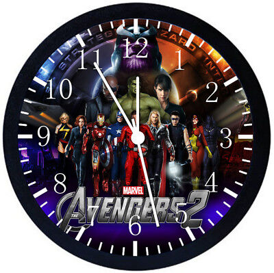 The Avengers Black Frame Wall Clock Nice For Decor or Gifts E72 for sale  Shipping to India
