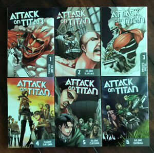 Attack on Titan Manga, Volumes 1 - 6