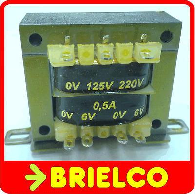 TRANSFORMADOR DE ALIMENTACION 220VAC A 6V+6V 0.5A 12V 0.3A CHASIS ABIERTO BD8285