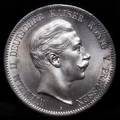 5 Mark Preussen Wilhelm 1900  Jg 104   Prachtstück   KP 20