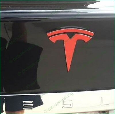 Tesla Model S Tailgate T Logo Accent High Cast Vinyl Decal Sticker Many Colors