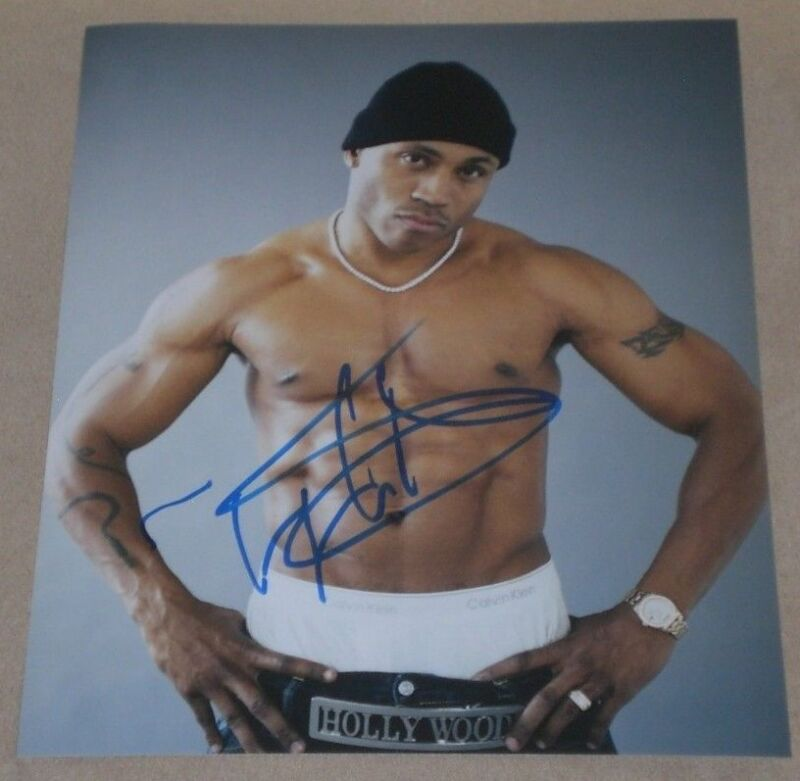 LL COOL J  SIGNED SEXY TATTOOED MUSCULAR STUD 8X10 PHOTO AUTOGRAPH COA NCIS LA