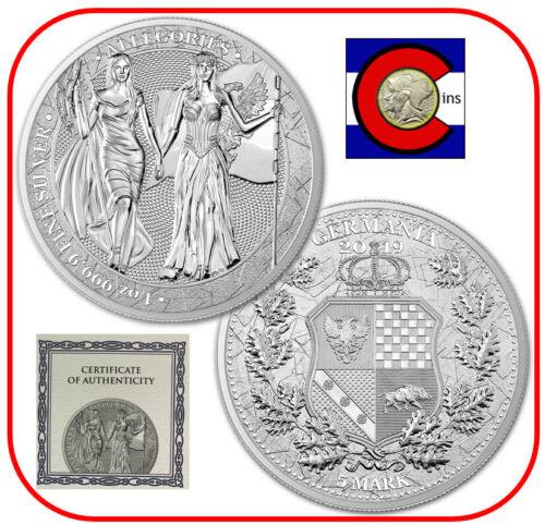 2019 Columbia & Germania - The Allegories - 1 oz Silver Coin in capsule w/ COA
