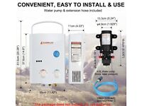 LPG gas water heater camping camper portable tankless