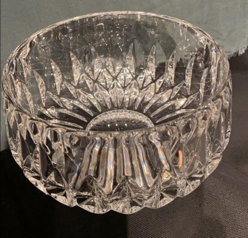 Gorham by Lenox Crystal Cut Round Bowl HEAVY GLASS