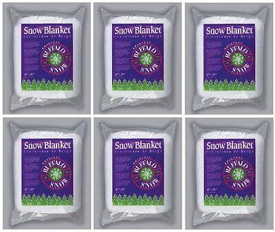 """Used, (6) ea Buffalo Batt & Felt CK2916 45"""" x 99"""" White Polyester Snow Blanket  for sale  Westlake"""