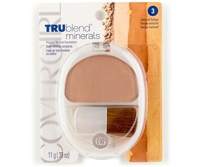 Cover Girl Mineral Foundation (Covergirl TruBlend Minerals Foundation 11g - Natural Beige 100% Brand New)