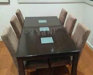 6 Seater Dining Table + Chairs Pascoe Vale Moreland Area Preview