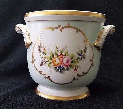 Vista Alegre Vase Urn Cache Pot Portugal Porcelain Floral Designs And Gold Rim