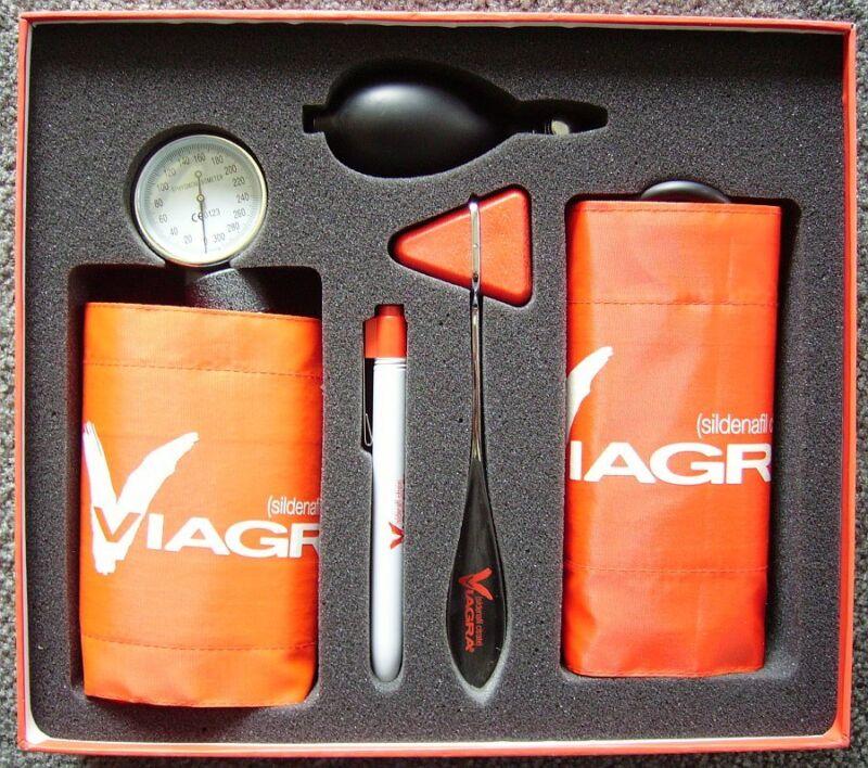 Viagra Blood Pressure Cuff Set (drug rep) - BRAND NEW