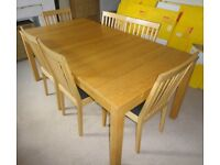 Ikea Bjursta Oak Extending Table & 6 Chairs FREE DELIVERY 574