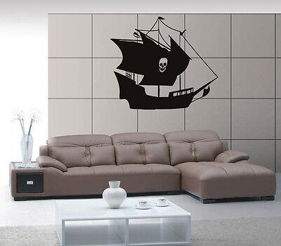 Ship Yacht Boat Pirate See Ocean Marine Mural  Wall Art Decor Vinyl Sticker z555