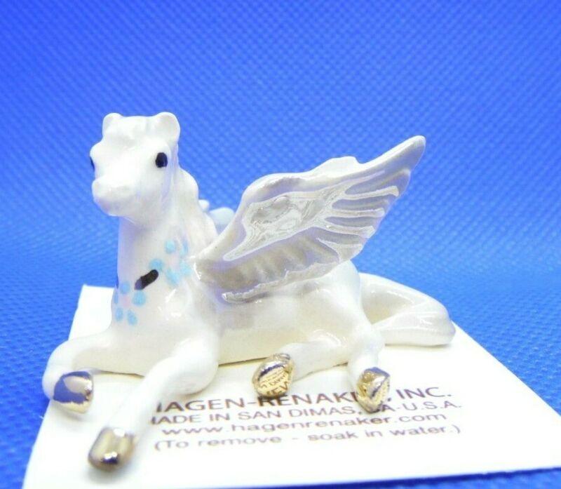 Hagen Renaker Pegasus Lying Figurine Miniature New 832 Made in USA