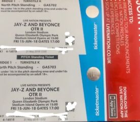 1X Beyoncé and Jay-Z north standing pitch ticket London June 15th