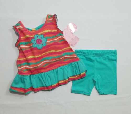 Sz 12Mos Baby Girl Infant Clothing Outfit  Nannette Sleeveless Top  & Capri pant