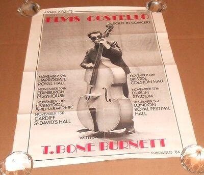 Elvis Costello Solo in Concert Promo Original 1984 Poster 25x19