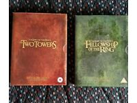 LORD OF THE RINGS - FELLOWSHIP OF THE RING / THE TWO TOWERS DVD BOX-SETS