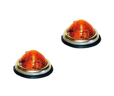 2 X BLINKLEUCHTE / BLINKER UNIVERSAL F. LKW TRAKTOR PKW OLDTIMER - FLASHER LAMP