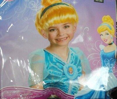 Disguise Princess Cinderella Kids Girl Halloween Wig Cosplay