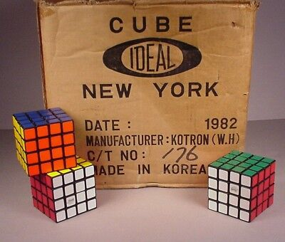 Rubik S Twist (1982 Ideal Rubik's Revenge Puzzle Twist Cube 4x4 New old stock toy NOS unused)