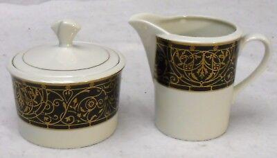 MIKASA china VICTORIAN EBONY 5-piece Place Setting Creamer & Sugar Bowl SET