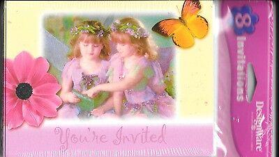 - Fairy Garden Princess Party Invitations By Designware - Set of 8 - New