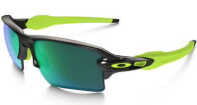 Neu Oakley Polarisiert Flak 2.0 XL - Black Ink/Jade Iridium
