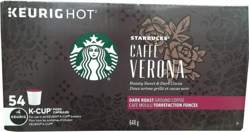 Starbucks Cafe Verona Dark Roast K-cups 54 count