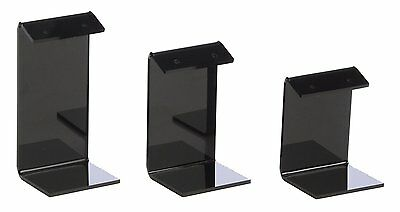 Earring Display Stand Holders Black Acrylic 18-pack