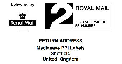 Royal Mail Pre-Printed PPI Labels in 1st & 2nd Class with Return Address 24UP - Print Ups Return Label