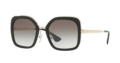 PRADA CINÉMA SPR 57US Black/Light Grey Shaded (1AB-0A7) Sunglasses