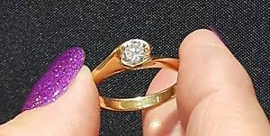 .48 carat solitaire diamond ring 18ct yellow gold Carindale Brisbane South East Preview