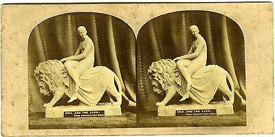 PHOTO circa 1860 Spenser's Faerie Queene Una and the Lion