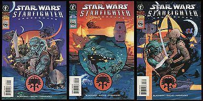 Star Wars Starfighter Crossbones Comic Set 1-2-3 Lot LucasArts video game tie-in