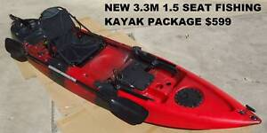 NEW 11FT SIT ON PRO FISHING KAYAK PACKAGE - PADDLE - SEAT   MORE