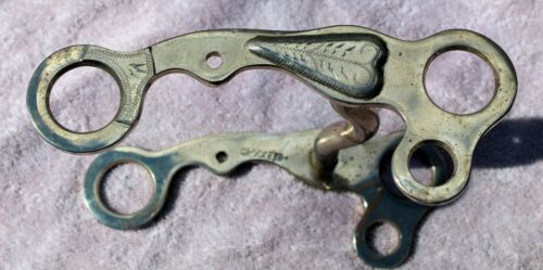 Fancy Silver Heart Crockett Horse Bit