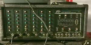 Peavey PA system mixer and 2 cabinets