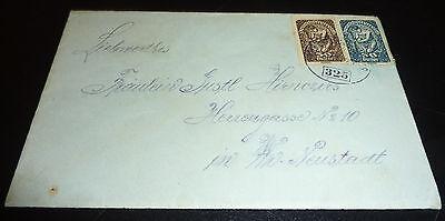 Deutschösterreich Brief mit Inhalt Neustadt Stempel 325 Deutsch Österreich