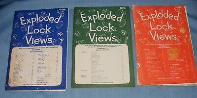 Locksmith Ledger Exploded Lock Views Volumes 1, 2, 3, 1970