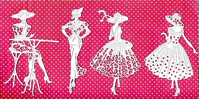 8 NEW TATTERED LACE LADY DIE CUTS -GIRL ART DECO mum