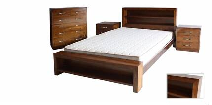 Brand New American Ashwood Timber Bed Frame in Queen and King