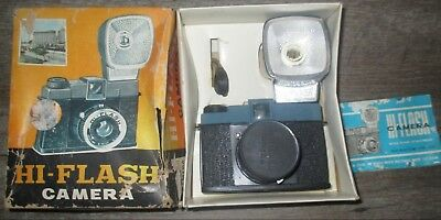 Vintage orig box Hi-Flash Camera w/instruction book 120 roll color or B/W photos