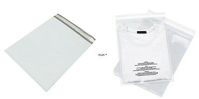 200 Bags 100 10x13 Poly Mailers Envelopes Self Seal Plastic 100 9x12 Clear Ldpe